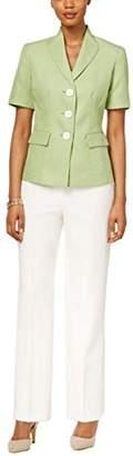 Le Suit LeSuit Women's 3 Button Tweed Pant Suit