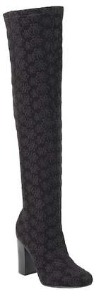 Mia Rosette Embroidered Knee-High Boot