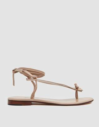 Martiniano Bibiana Leather Flat in Beige