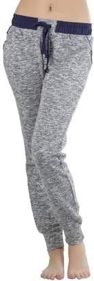 ToBeInStyle Women's Heathered French Terry Jogger Pants