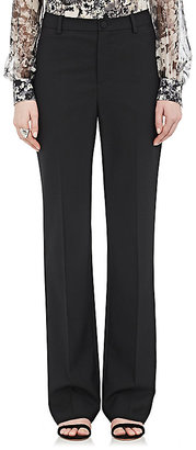 Lanvin Women's Suiting Piqué Flared Trousers $750 thestylecure.com
