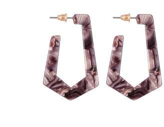Jon Richard Jewellery Mixed Resin Geometric Hoop Earrings