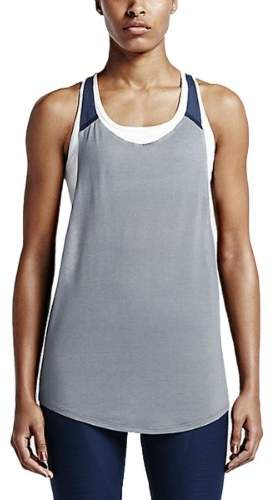 Nike Women's Dri-Fit Elevate Flow Training Tank Top-Dark Grey