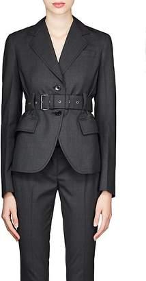 Prada Women's Worsted Wool Belted Blazer