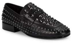 Ash Enigma Studded Leather Loafers