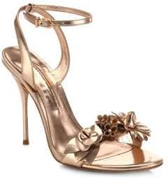 Sophia Webster Lilico Metallic Leather Ankle-Strap Sandals