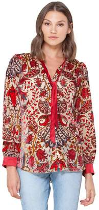 Hale Bob Melina Silk Burnout Blouse