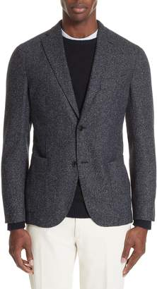Boglioli Trim Fit Tweed Wool Blend Sport Coat