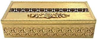 One Kings Lane Vintage Gold Filigree Hinged Tissue Holder