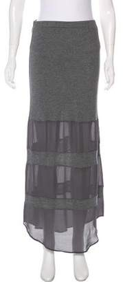 Haute Hippie Silk-Trimmed Maxi Skirt