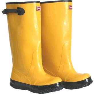 "Boss Gloves 2KP448110 Size 10 17"" Yellow/Black Rubber Over-The-Shoe Slush Knee Boots"