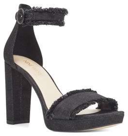 Nine West Daranita Ankle-Strap Denim Sandals