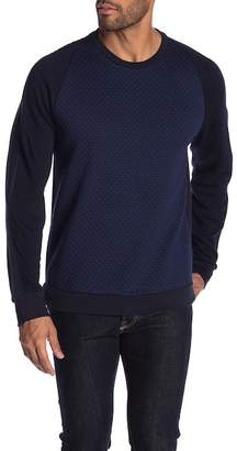 Karl Lagerfeld Paris Colorblock Quilted Pullover