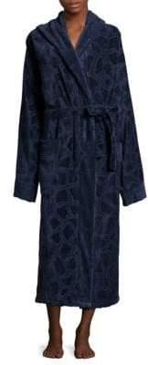 Roberto Cavalli Jerapha Hooded Cotton Bathrobe