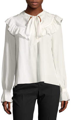 Temperley London Silk Ruffle Blouse