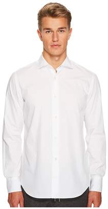 Eleventy Poplin Spread Collar Button Down