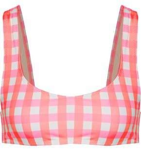 Solid & Striped Elle Neon Checked Bikini Top