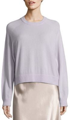 Vince Cashmere Raglan Sleeve Sweater $325 thestylecure.com