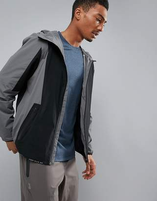 Perry Ellis 360 Running Challenger Jacket Packable in Gray/Black