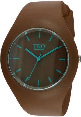 JCPenney TKO ORLOGI Candy II Brown Silicone Strap Sport Watch