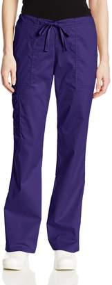 Cherokee Women's Workwear Scrubs Mid-Rise Core Stretch Drawstring Cargo Pant
