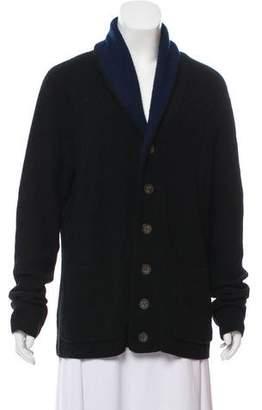 Barneys New York Barney's New York Shawl Collar Rib Knit Cardigan