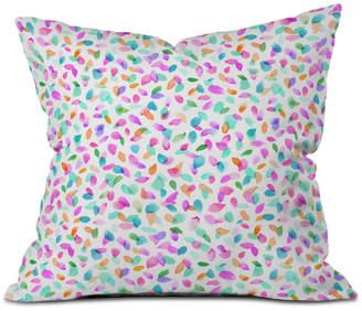 Deny Designs Ninola Design Multicolored Confetti Flowers Throw Pillow