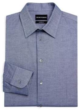 Armani Collezioni Modern Fit Chambray Dress Shirt