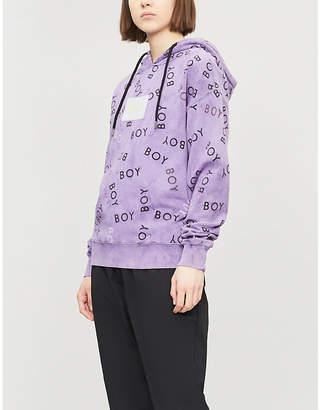 6e68cdb6ad6e Boy London Oversized tie-dye print cotton hoody