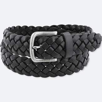 Uniqlo Men's Leather Wide Mesh Belt