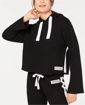 Calvin Klein Bell-Sleeve Cropped Hoodie