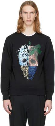 Alexander McQueen Black Split Skull Sweatshirt