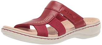 84a31ac86cc Clarks Red Leather Straps Women s Sandals - ShopStyle
