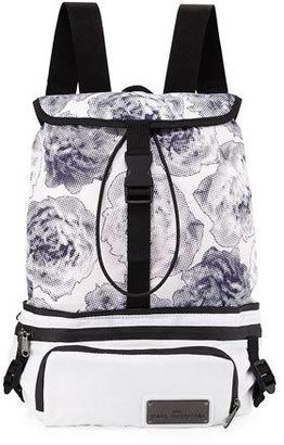 adidas by Stella McCartney Run Convertible Printed Backpack, White/Black/Blue $130 thestylecure.com