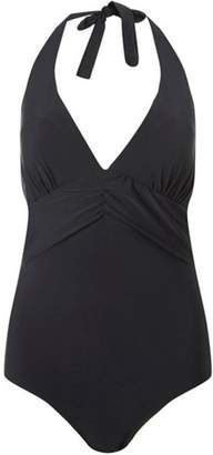 Dorothy Perkins Womens *DP Beach Black Ruched Front Swimsuit