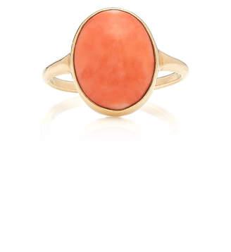 VELA 14K Gold Coral Ring