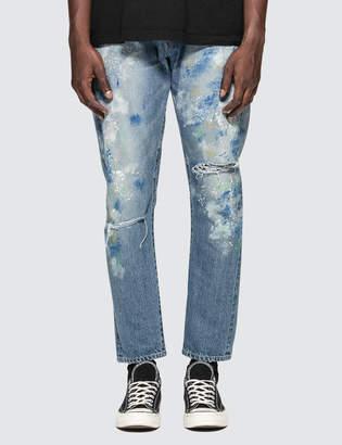 Denim By Vanquish & Fragment Paint Tapered Denim Jeans