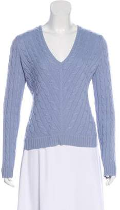 Ralph Lauren Black Label Cashmere V-neck Long Sleeve Sweater