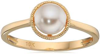 Crystal Pearl Amazon Collection 10k Gold Swarovski Birthstone Ring