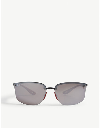 1e32d769cb Ray-Ban RB4322 Ferrari rectangle-frame sunglasses