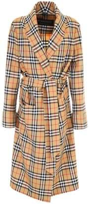 Burberry Check Coat