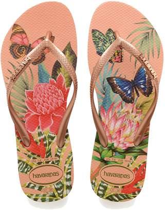 0667e3a0deba Next Womens Havaianas Pink Butterfly Slim Flip Flop