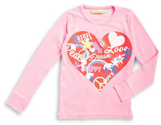 Vintage Havana Girls 7-16 Ribbed Heart Graphic Top $48 thestylecure.com