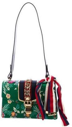 Gucci Small Jacquard Sylvie Top Handle Bag