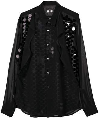 Comme des Garcons sheer sequin embellished shirt