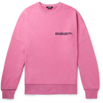 Calvin Klein Oversized Distressed Logo-Embroidered Loopback Cotton-Jersey Sweatshirt - Men - Pink
