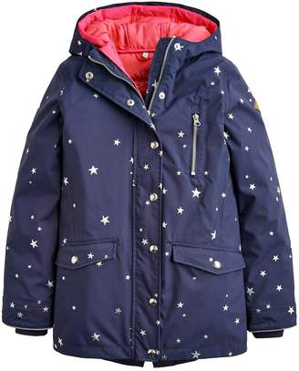 Joules Girls Parka 3 In 1 Hooded Coat