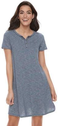 Sonoma Goods For Life Women's SONOMA Goods for Life Henley T-Shirt Dress