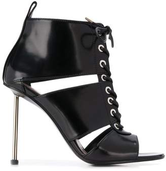 Alexander McQueen lace-up boot sandals
