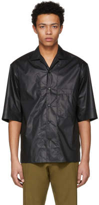 Lemaire Black One-Pocket Button-Up Shirt